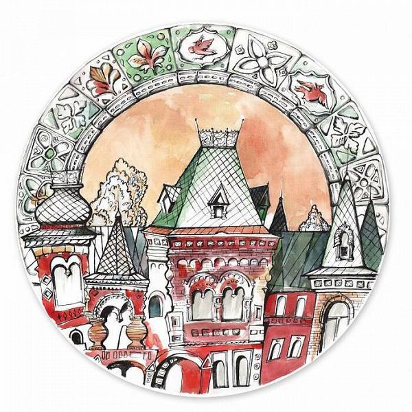 Тарелка 'Московия Dream. Русский дом'