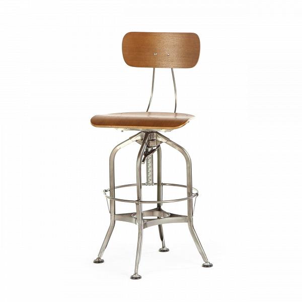 Барный стул Toledo WoodБарные<br>Дизайнерский цветной барный стул Toledo Wood (Толедо Вуд) из фанеры на черных ножках от Cosmo (Космо). <br><br> Целевыми помещениями для использования стульев ToledoВизначально были офисы, заводы, аптеки и тому подобные места. Однако под влиянием веяний модных дизайнерских тенденций появилась новая модель — для ресторанов, молодежных клубов и баров.<br><br><br> Замысловатый каркас из стали, выполненный в черном или металлическом цвете, представлен системой «паучьи лапки», как назвали это сами ди...<br><br>stock: 0<br>Высота: 97<br>Высота сиденья: 64-75<br>Ширина: 42<br>Глубина: 48<br>Цвет ножек: Бронза пушечная<br>Материал сидения: Фанера, шпон ивы<br>Цвет сидения: Темно-коричневый<br>Тип материала сидения: Дерево<br>Тип материала ножек: Сталь