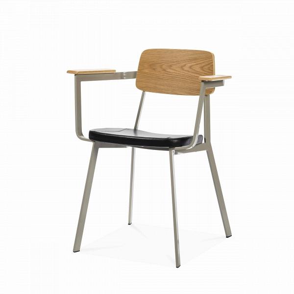 Стул SprintИнтерьерные<br>Дизайнерское интерьерный легкий стул Sprint (Спринт) на длинных металлических ножках от Cosmo (Космо).<br><br><br> Отправляясь в Италию на каникулы, обязательно прокатитесь по узким улочкам Рима или Флоренции на скутере — классической модели Vespa Sprint, быстрой, маневренной и лаконичной в своем дизайне. Вот уже больше полувека — это любимое транспортное средство местных жителей. Возможно, именно вдохновившись формой и функциональностью итальянского скутера, Шон Дикс воплотил их в таком повседн...<br><br>stock: 13<br>Высота: 75<br>Высота сиденья: 46<br>Ширина: 62<br>Глубина: 50<br>Цвет ножек: Светло-серый<br>Материал каркаса: Фанера, шпон дуба<br>Тип материала каркаса: Фанера<br>Цвет сидения: Черный<br>Тип материала сидения: Кожа<br>Коллекция ткани: Harry Leather<br>Тип материала ножек: Сталь<br>Цвет каркаса: Дуб<br>Дизайнер: Sean Dix