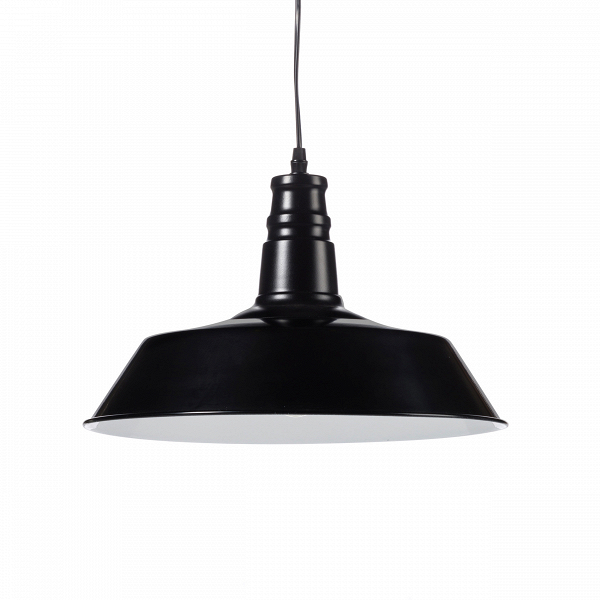 Подвесной светильник Barn IndustrialПодвесные<br>Этот подвесной светильник сочетает в себе лаконичность и практичность. Прочные металлические детали подвесного светильника Barn Industrial внушают спокойствие иВуверенность.<br><br><br> Подвесной светильник Barn Industrial идеально подходит для использования вВрамках индустриального стиля, для освещения баров, коворкингов, лофтов иВдругих просторных помещений, которым подошлоВбы оформление вВмодном сегодня стиле стимпанк.<br><br>stock: 0<br>Высота: 26<br>Длина: 36<br>Длина провода: 150<br>Количество ламп: 1<br>Материал абажура: Сталь<br>Мощность лампы: 40<br>Ламп в комплекте: Нет<br>Напряжение: 220<br>Тип лампы/цоколь: E27<br>Цвет абажура: Черный матовый<br>Цвет провода: Черный