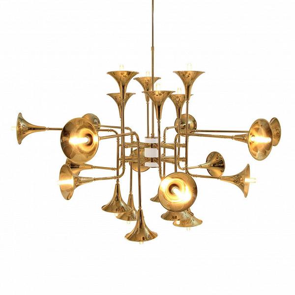 Подвесной светильник Botti 16 лампПодвесные<br>Винтажный подвесной светильник Botti 16 ламп сделаетВроскошным даже самый простой интерьер. Если же говорить о помещениях, декорированных вВстиле винтаж или гламур, такой предмет их не только дополнит, но и станет их венцом. Одна из непременных чертВвинтажного стиля — это оригинальность и своеобразие. Безусловно, ни в том ни в другом этому светильнику нельзя отказать.<br><br><br> Лучшие португальские дизайнеры поработали на славу: с одной стороны, множественность деталей создает...<br><br>stock: 0<br>Высота: 150<br>Длина: 103<br>Количество ламп: 16<br>Материал абажура: Металл<br>Мощность лампы: 40<br>Ламп в комплекте: Нет<br>Напряжение: 220<br>Тип лампы/цоколь: E14<br>Цвет абажура: Золотой