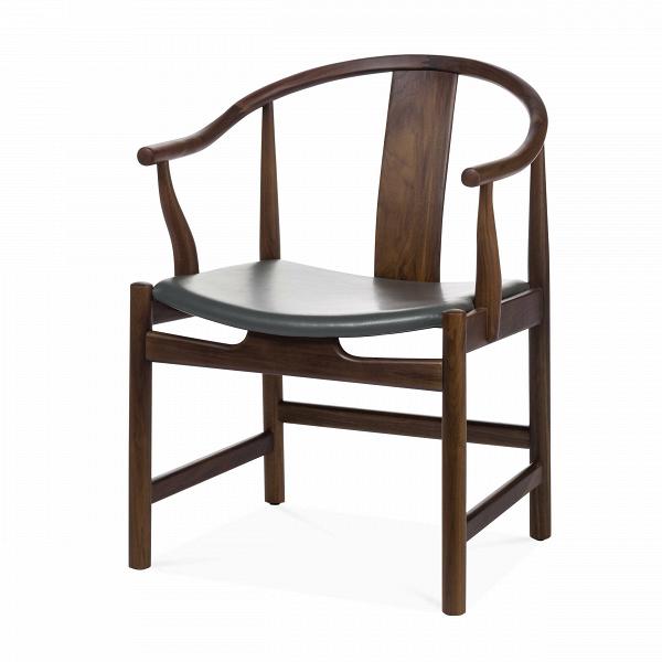 Стул  CirceИнтерьерные<br>Дизайнерское интерьерное кресло-стул Circe (Сирке) из дерева с кожаным сиденьем от Cosmo (Космо).<br><br><br> Стул Circe будет смотреться одинаково эффектно и в доме с современным дизайном, и в деловой обстановке вашего офиса, и вообще в любом месте, куда вы хотите привнести атмосферу утонченной роскоши и стиля.ВНевероятно красивый и утонченный, этот стул прекрасно отражает дизайнерский почерк своего создателя.<br><br><br> В стуле Circe идеально сочетаются изящность формы и функциональность. Ориги...<br><br>stock: 0<br>Высота: 79<br>Высота сиденья: 43<br>Ширина: 58<br>Глубина: 58<br>Материал каркаса: Массив ореха<br>Тип материала каркаса: Дерево<br>Цвет сидения: Темно-серый<br>Тип материала сидения: Кожа<br>Коллекция ткани: Harry Leather<br>Цвет каркаса: Орех