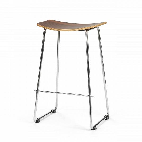 Барный стул SaddleПолубарные<br>Простота и элегантность — вот что отличает барный стул Saddle от другой мебели подобного типа. Именно он необходим бару, пабу, кафе или ресторану с летней площадкой и неприхотливым дизайном. Такой стул, как Saddle, великолепно впишется в любой интерьер, в котором есть подобие барной стойки. Простой, но и изысканный при этом интерьер — вот где должен жить Saddle, ведь такой интерьер получит глоток свежего воздуха, а также изящное изделие из шпона ценных пород дерева и нержавеющей гладкой с...<br><br>stock: 5<br>Высота: 68,5<br>Ширина: 44<br>Глубина: 35<br>Цвет ножек: Хром<br>Материал сидения: Дерево розовое<br>Цвет сидения: Коричневый<br>Тип материала сидения: Дерево<br>Тип материала ножек: Сталь нержавеющая
