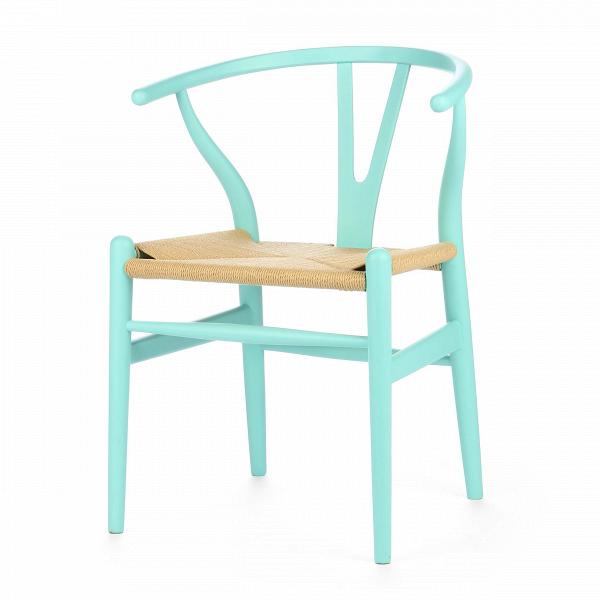 Стул Wishbone окрашеныйИнтерьерные<br>Дизайнерский деревянный стул Wishbone (Уишбон) с бумажным сиденьем от Cosmo (Космо).<br><br> Стул Wishbone был разработан вВ1949 году передовым датским дизайнером мебели Хансом Вегнером. Стул Wishbone был создан под впечатлением отВпросмотра классических портретов датских торговцев, сидящих наВкитайских стульях династии Мин. Свое название стул Wishbone («вилка») получил заВспецифическую форму спинки сиденья.<br><br><br> Также известный как CH24, стул Wishbone окрашенный широко испо...<br><br>stock: 0<br>Высота: 76<br>Высота сиденья: 45<br>Ширина: 55,5<br>Глубина: 53,5<br>Материал каркаса: Массив бука<br>Тип материала каркаса: Дерево<br>Цвет сидения: Бежевый<br>Тип материала сидения: Корд бумажный<br>Цвет каркаса: Бирюзовый<br>Дизайнер: Hans Wegner