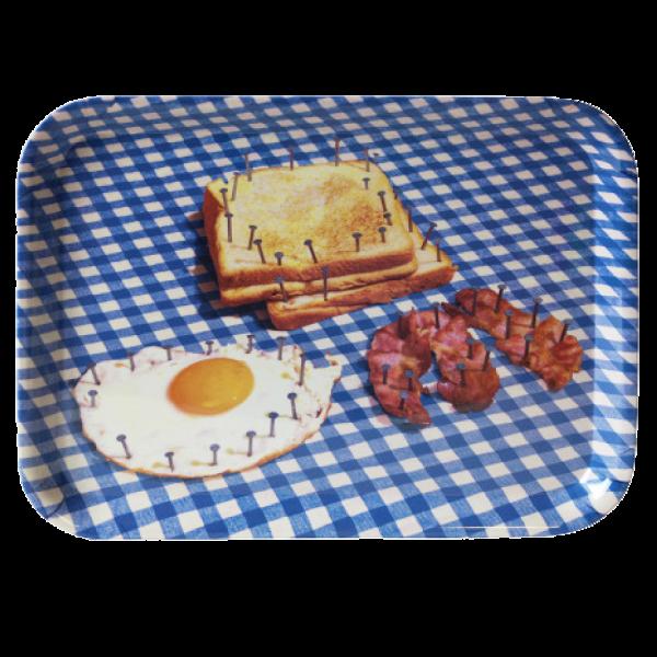 Поднос BreakfastПосуда<br>Поднос Breakfast из коллекции Toiletpaper от компании Seletti — это как раз то, что и следовало ожидать от этой дизайн-студии. Знаменитые на весь мир Seletti не раз прогремели своими коллекциями посуды и мебели провокационного содержания. Но за это их все и любят. <br> <br> Кухонная утварьВToiletpaper названа в честь одноименного журнала, основанного в 2010 году художником Маурицио Кателланом и фотографом Пьерпауло<br> Феррари. За время существования издания огромное количество изображений<br> и...<br><br>stock: 3<br>Высота: 32<br>Ширина: 43,5<br>Материал: Меламин