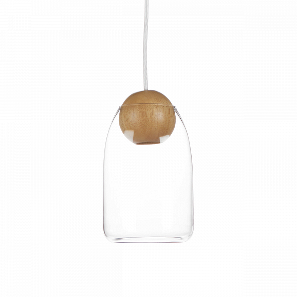 Подвесной светильник  Wooden Ball шарообразный цокольПодвесные<br>Подвесной светильникВ Wooden Ball шарообразный цоколь — это яркий представитель декоративного освещения в стиле эко. Приглушенные тона в сочетании с природными материалами являются прямой отсылкой к этому столь популярному в Европе стилю. Зародившись в северных странах, это направление в интерьере стало распространяться на континент и далеко за его пределы. Интерьеры в этом стилеВстоль универсальны, современныВи просты в создании, что этим вполне можно объяснить его популярност...<br><br>stock: 16<br>Высота: 180<br>Диаметр: 14<br>Материал абажура: Стекло<br>Материал арматуры: Дерево<br>Ламп в комплекте: Нет<br>Напряжение: 220<br>Тип лампы/цоколь: LED<br>Цвет абажура: Прозрачный