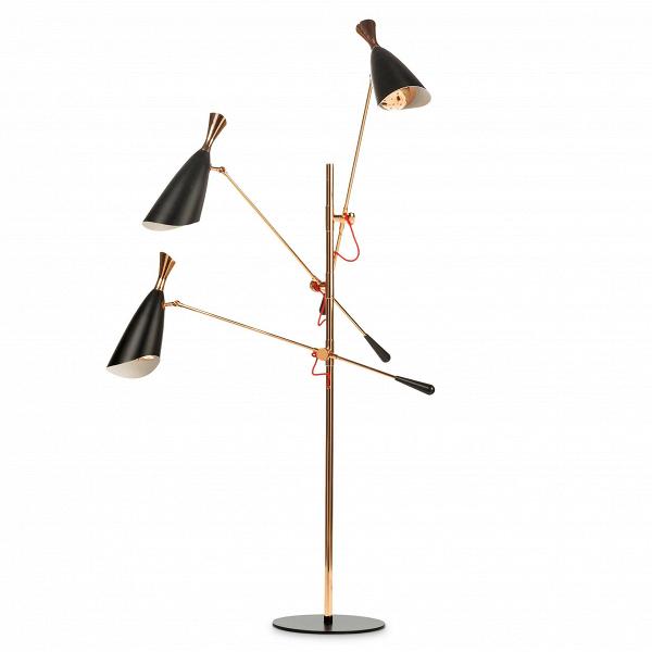 Напольный светильник DukeНапольные<br>Напольный светильник Duke — типичный представитель стиля конструктивизм, в качестве фундамента которого лежит простота и функциональность, способная кардинально преобразоватьВжилое и рабочее пространство. Излюбленные в конструктивизме цвета и формы слились между собой в дизайне напольного светильника Duke, и представлены вашему вниманию компанией Cosmo. <br><br>Дизайнеров светильника вдохновило творческое наследие джазового музыканта с мировым именем Дюка Эллингтона, творившего в середине пр...<br><br>stock: 0<br>Высота: 180<br>Диаметр: 130<br>Доп. цвет абажура: Золото розовое<br>Количество ламп: 6<br>Материал абажура: Металл<br>Мощность лампы: 2/40<br>Ламп в комплекте: Нет<br>Напряжение: 220<br>Тип лампы/цоколь: G9+Е14<br>Цвет абажура: Черный