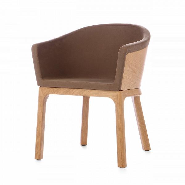 Кресло PalettaИнтерьерные<br>Дизайнерское легкое кресло Paletta (Палетта) на длинных деревянных ножках с закругленной спинкой от Cosmo (Космо).<br><br><br> Мастер функционального дизайна Шон Дикс делает универсальную мебель, которую можно поставить в любом пространстве, будь то небольшая уютная гостиная, шикарное лобби отеля или строгая приемная в офисе. Вот и свое кресло Paletta («кресло-ложечку», именно так с итальянского переводится название) он придумал в качестве идеального предмета мебели дляВлюбого интерьера.<br><br>...<br><br>stock: 3<br>Высота: 74,5<br>Высота сиденья: 45<br>Ширина: 62<br>Глубина: 57,5<br>Цвет ножек: Дуб<br>Материал каркаса: Фанера, шпон дуба<br>Материал ножек: Массив дуба<br>Материал обивки: Хлопок, Лен<br>Тип материала каркаса: Фанера<br>Коллекция ткани: Ray Fabric<br>Тип материала обивки: Ткань<br>Тип материала ножек: Дерево<br>Цвет обивки: Светло-коричневый<br>Цвет каркаса: Дуб<br>Дизайнер: Sean Dix