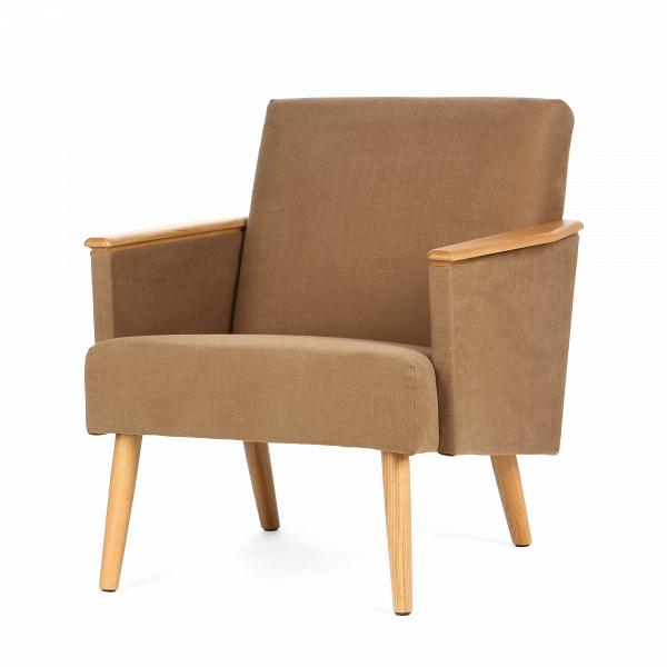 Кресло HarryИнтерьерные<br>Дизайнерское классическое легкое кресло Harry (Гарри) на длинных ножках от Cosmo (Космо).<br><br><br> Кто знает, может быть,оригинальное кресло Harry получило свое имя в честь принца Гарри, ведь первое, что приходит на ум, когда видишь его, — королевский комфорт и ощущение благородной расслабленности. Спинка под правильным углом, устойчивые солидные ножки, подлокотники из прочного дуба или ореха, мягкая обивка из ткани нейтральных, «природных» оттенков. ВВтаком кресле легко можно расслабить...<br><br>stock: 0<br>Высота: 77,5<br>Ширина: 71<br>Глубина: 82,5<br>Цвет ножек: Дуб<br>Материал ножек: Массив дуба<br>Материал обивки: Хлопок, Лен<br>Коллекция ткани: Ray Fabric<br>Тип материала обивки: Ткань<br>Тип материала ножек: Дерево<br>Цвет обивки: Светло-коричневый