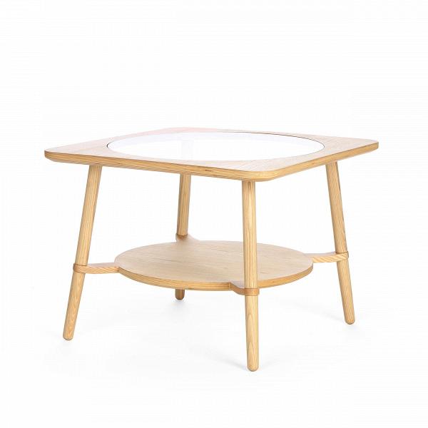 Кофейный стол  CutoutКофейные столики<br>Дизайнерский стильный кофейный стол Cutout (Катаут) с прозрачной столешницей от Cosmo (Космо).<br><br><br> Журнальный стол Cutout сконструировал американский дизайнер Шон Дикс. Мебель Шона Дикса минималистична иВинтеллектуальна, прекрасно обработана иВочень функциональна. Она несет вВсебе чувство роскоши, которое отличает работы Шона отВработ его коллег.В<br><br><br> Иногда дизайнеры как дети, им хочется взяться за ножницы и клей и смастерить причудливое оригами или аппликацию...<br><br>stock: 0<br>Высота: 45<br>Ширина: 60<br>Длина: 60<br>Цвет ножек: Светло-коричневый<br>Цвет столешницы: Прозрачный<br>Материал каркаса: Фанера, шпон ясеня<br>Материал ножек: Массив ясеня<br>Тип материала каркаса: Фанера<br>Тип материала столешницы: Стекло закаленное<br>Тип материала ножек: Дерево<br>Цвет каркаса: Светло-коричневый<br>Дизайнер: Sean Dix