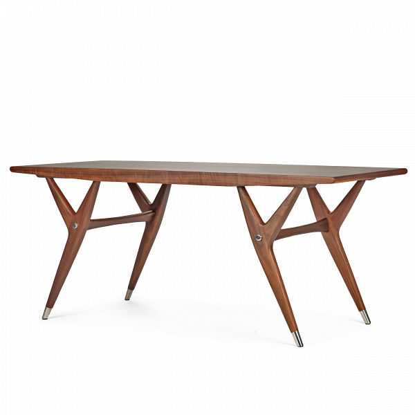 Кофейный стол SpeckКофейные столики<br>Дизайнерский коричневый длинный кофейный деревянный стол Speck (Спек) от Cosmo (Космо).<br><br><br> Правильный выбор любого стола, кофейного ли, обеденного, чрезвычайно важен для интерьера, ведь именно он создаст ту неповторимую атмосферу комфортной обстановки на кухне, столовой или гостиной, что очень важно для хорошего настроения и аппетита.<br><br><br> Оригинальный кофейный стол Speck представляет собой изящный и легкий предмет мебели, который благодаря любому из двух разных материалов (американско...<br><br>stock: 0<br>Высота: 56,7<br>Ширина: 55<br>Длина: 134,8<br>Цвет ножек: Орех американский<br>Цвет столешницы: Орех американский<br>Материал ножек: Массив ореха<br>Материал столешницы: Фанера, шпон ореха<br>Тип материала столешницы: Фанера<br>Тип материала ножек: Дерево
