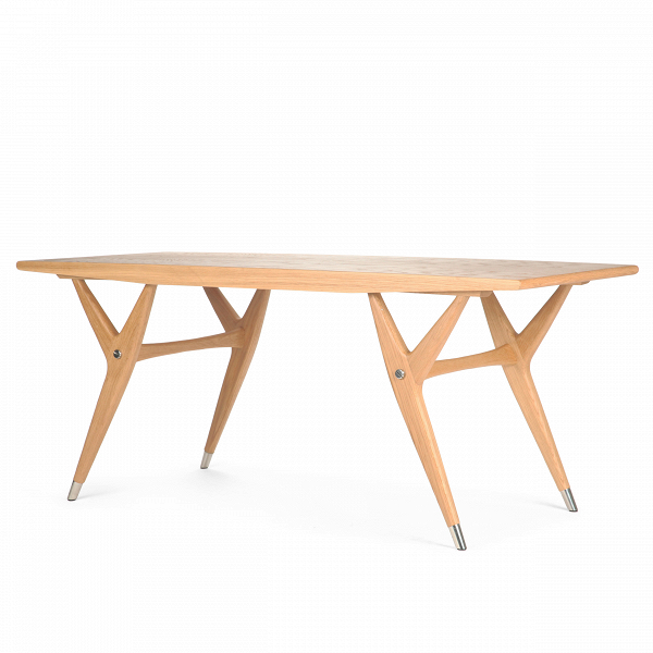 Кофейный стол SpeckКофейные столики<br>Дизайнерский коричневый длинный кофейный деревянный стол Speck (Спек) от Cosmo (Космо).<br><br><br> Правильный выбор любого стола, кофейного ли, обеденного, чрезвычайно важен для интерьера, ведь именно он создаст ту неповторимую атмосферу комфортной обстановки на кухне, столовой или гостиной, что очень важно для хорошего настроения и аппетита.<br><br><br> Оригинальный кофейный стол Speck представляет собой изящный и легкий предмет мебели, который благодаря любому из двух разных материалов (американско...<br><br>stock: 0<br>Высота: 56,7<br>Ширина: 55<br>Длина: 134,8<br>Цвет ножек: Светло-коричневый<br>Цвет столешницы: Светло-коричневый<br>Материал ножек: Массив дуба<br>Материал столешницы: Фанера, шпон дуба<br>Тип материала столешницы: Фанера<br>Тип материала ножек: Дерево