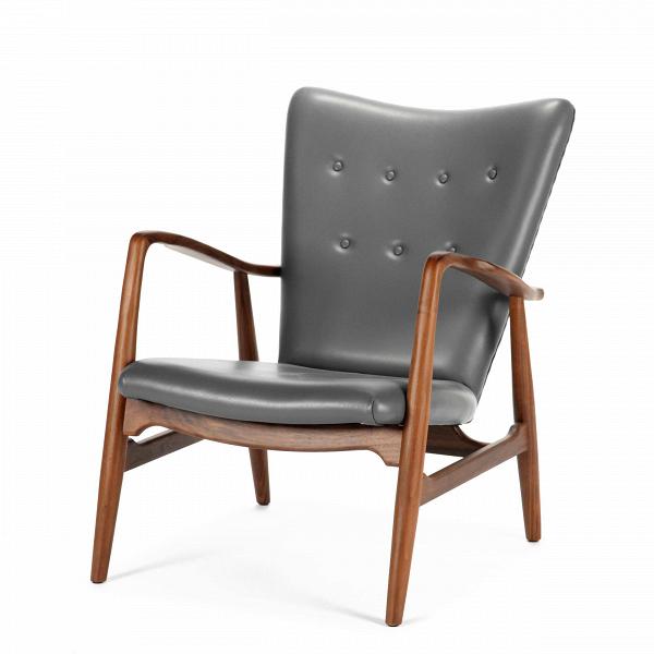 Кресло DelightsИнтерьерные<br>Строгая классика и стильный дизайн — это именно то, что сейчас так ценят в интерьере офиса или рабочего кабинета. Именно мебель задает атмосферу в помещении, ее цветовую гамму и настроение. Хотите, чтобы при входе в помещение вас сразу начинали посещать нужные мысли? Тогда нужно с умом подобрать необходимую мебель.<br><br><br> Кресло DelightsВобладает именно тем деловым шармом, который так важен на рабочем месте. Спинка кресла слегка откинута назад, за счет чего очень удобна и способствует...<br><br>stock: 0<br>Высота: 80,5<br>Высота сиденья: 38<br>Ширина: 67<br>Глубина: 84<br>Материал каркаса: Массив ореха<br>Тип материала каркаса: Дерево<br>Коллекция ткани: Harry Leather<br>Тип материала обивки: Кожа<br>Цвет обивки: Темно-серый<br>Цвет каркаса: Орех американский