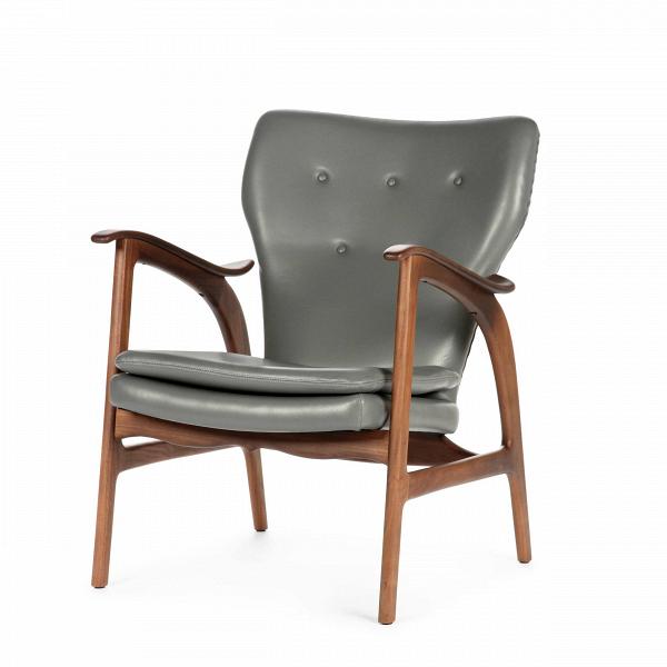 Кресло Model 3Интерьерные<br>Дизайнерское кресло Model 3 (Модел 3) с подлокотниками на высоких ножках от Cosmo (Космо).<br><br><br> Представленное в четырех цветовых решениях кресло Model 3 — результат работы бесспорного мастера датского дизайна и одной изВведущих фигур вВмебельном дизайне XXВвека Ханса Вегнера, подаренный современному придирчивому потребителю, ценящему высокий уровень. Стиль этого невероятноВпрактичного кресла — отпечаток многовековой истории в области дизайна и интерьера.<br> <br> Изящные л...<br><br>stock: 0<br>Высота: 84<br>Высота сиденья: 42,5<br>Ширина: 67<br>Глубина: 77<br>Материал каркаса: Массив ореха<br>Тип материала каркаса: Дерево<br>Коллекция ткани: Harry Leather<br>Тип материала обивки: Кожа<br>Цвет обивки: Темно-серый<br>Цвет каркаса: Орех американский<br>Дизайнер: Hans Wegner