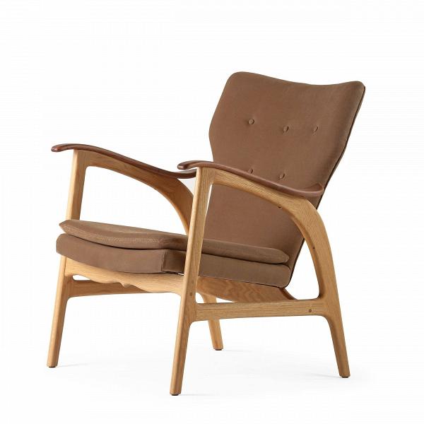 Кресло Model 3Интерьерные<br>Дизайнерское кресло Model 3 (Модел 3) с подлокотниками на высоких ножках от Cosmo (Космо).<br><br><br> Представленное в четырех цветовых решениях кресло Model 3 — результат работы бесспорного мастера датского дизайна и одной изВведущих фигур вВмебельном дизайне XXВвека Ханса Вегнера, подаренный современному придирчивому потребителю, ценящему высокий уровень. Стиль этого невероятноВпрактичного кресла — отпечаток многовековой истории в области дизайна и интерьера.<br> <br> Изящные л...<br><br>stock: 0<br>Высота: 84<br>Высота сиденья: 42,5<br>Ширина: 67<br>Глубина: 77<br>Материал каркаса: Массив дуба<br>Материал обивки: Хлопок, Лен<br>Тип материала каркаса: Дерево<br>Коллекция ткани: Ray Fabric<br>Тип материала обивки: Ткань<br>Цвет обивки: Светло-коричневый<br>Цвет каркаса: Дуб<br>Дизайнер: Hans Wegner
