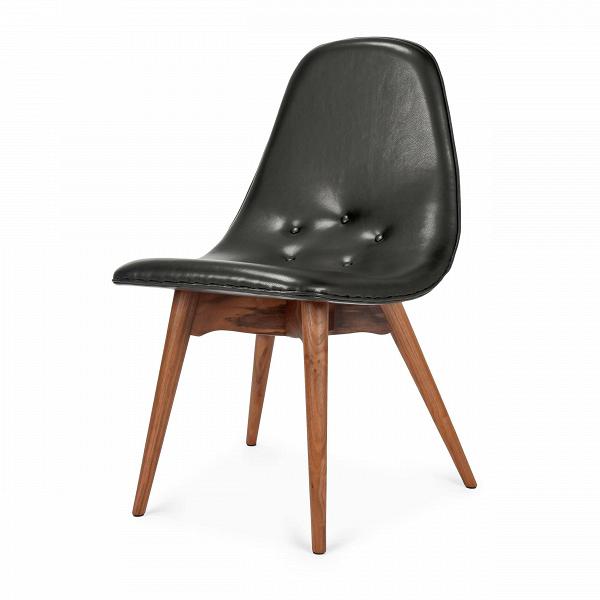 Стул Contour 2Интерьерные<br>Дизайнерский глубокий стул Contour 2 (Контур 2) без подлокотников на четырех ножках из массива ореха от Cosmo (Космо).<br><br> СтулВContour — оригинальный предмет интерьера необычной формы, который говорит сам за себя, ведь его форма предназначена для отдыха, расслабления и комфортно проведенного времени. Дизайнерский стул, разработанный Грантом Фезерстоном, произведенный из натурального ореха и обтянутый мягкой, но при этом плотной черной тканью, впишется в любой интерьер (от хай-тек до ар-...<br><br>stock: 2<br>Высота: 81,5<br>Высота сиденья: 45,5<br>Ширина: 51<br>Глубина: 55,5<br>Цвет ножек: Орех<br>Материал ножек: Массив ореха<br>Цвет сидения: Черный<br>Тип материала сидения: Кожа<br>Коллекция ткани: Harry Leather<br>Тип материала ножек: Дерево<br>Дизайнер: Grant Featherston