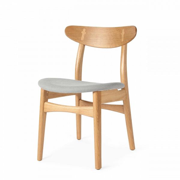 Стул Dutch 2Интерьерные<br>Дизайнерский деревянный стул Dutch 2 (Дуч 2) с мягким сиденьем от Cosmo (Космо).<br><br>     Порой некоторыеВпредметы интерьера так и претендуют стать главными героями вашего дома.ВИ вот уже некогда «гость» за обеденным столом становится полноценным членом семьи,ВвзаменВпредлагая комфорт и уют.<br><br><br> Стул Dutch 2 как раз из их числа. Благодаря стильному и лаконичному дизайну у него есть все шансы стать незаменимым помощником во время трапез за семейным обеденным столом.В<br>...<br><br>stock: 18<br>Высота: 78,5<br>Высота сиденья: 44,5<br>Ширина: 53<br>Глубина: 49<br>Материал каркаса: Массив дуба<br>Тип материала каркаса: Дерево<br>Материал сидения: Хлопок<br>Цвет сидения: Светло-серый<br>Тип материала сидения: Ткань<br>Коллекция ткани: Charles Fabric<br>Цвет каркаса: Белый дуб