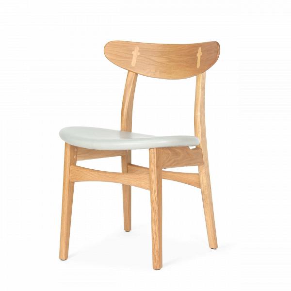 Стул Dutch 2Интерьерные<br>Дизайнерский деревянный стул Dutch 2 (Дуч 2) с мягким сиденьем от Cosmo (Космо).<br><br>     Порой некоторыеВпредметы интерьера так и претендуют стать главными героями вашего дома.ВИ вот уже некогда «гость» за обеденным столом становится полноценным членом семьи,ВвзаменВпредлагая комфорт и уют.<br><br><br> Стул Dutch 2 как раз из их числа. Благодаря стильному и лаконичному дизайну у него есть все шансы стать незаменимым помощником во время трапез за семейным обеденным столом.В<br>...<br><br>stock: 6<br>Высота: 78,5<br>Высота сиденья: 44,5<br>Ширина: 53<br>Глубина: 49<br>Материал каркаса: Массив дуба<br>Тип материала каркаса: Дерево<br>Цвет сидения: Темно-серый<br>Тип материала сидения: Кожа<br>Коллекция ткани: Harry Leather<br>Цвет каркаса: Белый дуб