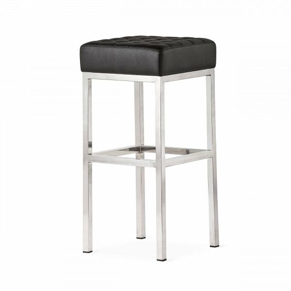 Стул барный QuadroБарные<br>Дизайнерский кожаный барный стул Quadro (Квадро) на ножках из нержавеющей стали от Cosmo (Космо).<br><br> Высокий барный стул Quadro — современная классика, выраженная в каждом миллиметре, творение Флоренс Нолл Бассетт, американского архитектора иВдизайнерам мебели, которая училась уВМиса ван дер Роэ иВЭэро Сааринена. Правильная геометрия оригинального барного стула Quadro порадует любого перфекциониста и привнесет особую эстетику в интерьер различной стилевой направленности, от...<br><br>stock: 5<br>Высота: 76,5<br>Ширина: 37<br>Глубина: 37<br>Цвет ножек: Хром<br>Цвет сидения: Черный<br>Тип материала сидения: Кожа<br>Коллекция ткани: Harry Leather<br>Тип материала ножек: Сталь нержавеющая<br>Дизайнер: Florence Knoll