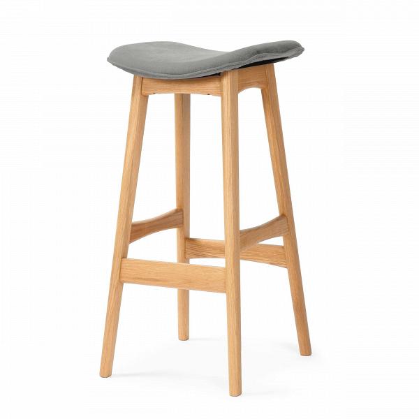 Барный стул Allegra высота 77Барные<br>Дизайнерский барный стул Allegra (Аллегра) на деревянном каркасе без спинки в различных цветах от Cosmo (Космо).Это универсальный стул для дома и частных заведений. Он отлично подойдет как для баров и ресторанов, так и для уютных гостиных и кухонь. Цвет натурального дерева и простота деталей делают его по-настоящему лаконичным, благодаря чему он прекрасно впишется в интерьеры различной стилевой направленности.<br> <br> Стройный силуэт оригинального барного стула Allegra высота 77 составляют прямы...<br><br>stock: 0<br>Высота: 76,5<br>Ширина: 40<br>Глубина: 38,5<br>Цвет ножек: Дуб<br>Материал ножек: Массив дуба<br>Материал сидения: Шерсть, Нейлон<br>Цвет сидения: Серый<br>Тип материала сидения: Ткань<br>Коллекция ткани: T Fabric<br>Тип материала ножек: Дерево