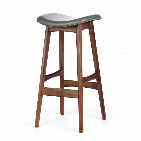 Барный стул Allegra высота 77Барные<br>Дизайнерский барный стул Allegra (Аллегра) на деревянном каркасе без спинки в различных цветах от Cosmo (Космо).Это универсальный стул для дома и частных заведений. Он отлично подойдет как для баров и ресторанов, так и для уютных гостиных и кухонь. Цвет натурального дерева и простота деталей делают его по-настоящему лаконичным, благодаря чему он прекрасно впишется в интерьеры различной стилевой направленности.<br> <br> Стройный силуэт оригинального барного стула Allegra высота 77 составляют прямы...<br><br>stock: 6<br>Высота: 76,5<br>Ширина: 40<br>Глубина: 38,5<br>Цвет ножек: Орех<br>Материал ножек: Массив ореха<br>Цвет сидения: Темно-серый<br>Тип материала сидения: Кожа<br>Коллекция ткани: Harry Leather<br>Тип материала ножек: Дерево