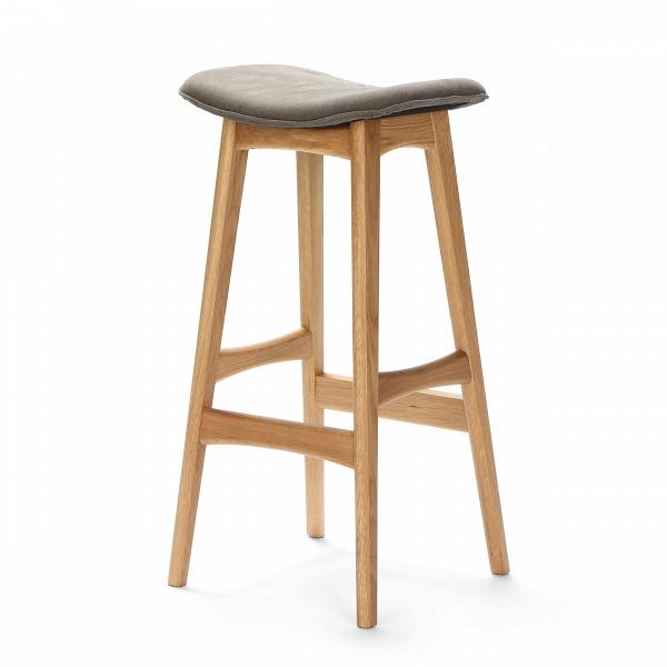 Барный стул Allegra высота 77Барные<br>Дизайнерский барный стул Allegra (Аллегра) на деревянном каркасе без спинки в различных цветах от Cosmo (Космо).Это универсальный стул для дома и частных заведений. Он отлично подойдет как для баров и ресторанов, так и для уютных гостиных и кухонь. Цвет натурального дерева и простота деталей делают его по-настоящему лаконичным, благодаря чему он прекрасно впишется в интерьеры различной стилевой направленности.<br> <br> Стройный силуэт оригинального барного стула Allegra высота 77 составляют прямы...<br><br>stock: 14<br>Высота: 76,5<br>Ширина: 40<br>Глубина: 38,5<br>Цвет ножек: Дуб<br>Материал ножек: Массив дуба<br>Материал сидения: Шерсть, Нейлон<br>Цвет сидения: Темно-серый<br>Тип материала сидения: Ткань<br>Коллекция ткани: T Fabric<br>Тип материала ножек: Дерево
