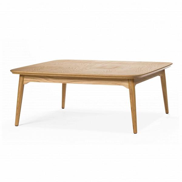 Кофейный стол Dad квадратный большой высота 40Кофейные столики<br>Дизайнерский низкий широкий кофейный столик Dad (Дэд) с высотой 40 см из дерева от Cosmo (Космо).<br><br><br> В нашем мире комфорт и функциональность играют значительную роль, поэтому мы всегда стремимся окружить себя всем необходимым. Это касается и мебели, а именно такого важного и невероятно удобного предмета, как кофейный столик.<br><br><br> Кофейный стол Dad квадратный большой высота 40, творение американского дизайнера с мировым именем Шона Дикса, имеет квадратную форму с плавными, закругленными...<br><br>stock: 0<br>Высота: 40<br>Ширина: 100<br>Длина: 100<br>Цвет ножек: Светло-коричневый<br>Цвет столешницы: Светло-коричневый<br>Материал ножек: Массив дуба<br>Материал столешницы: Фанера, шпон дуба<br>Тип материала столешницы: Фанера<br>Тип материала ножек: Дерево