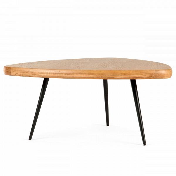 Кофейный стол CharlotteКофейные столики<br>Дизайнерский кофейный стол Charlotte (Шарлотта) с треугольной столешницей на трех ножках от Cosmo (Космо).<br><br><br><br><br>Кофейный стол Charlotte — это простые иВчистые линии, интегрированные вВваш интерьер. Кофейный стол разработан американским дизайнером Шоном Диксом, он имеет необычный дизайн и удивительно удобен в использовании за счет своей треугольной формы. Мебель Шона Дикса минималистична иВинтеллектуальна, прекрасно обработана иВочень функциональна. Она несет вВ...<br><br>stock: 0<br>Высота: 33<br>Ширина: 74<br>Длина: 75<br>Цвет ножек: Черный<br>Материал каркаса: Фанера, шпон дуба<br>Тип материала каркаса: Фанера<br>Тип материала ножек: Сталь<br>Цвет каркаса: Светло-коричневый<br>Дизайнер: Sean Dix