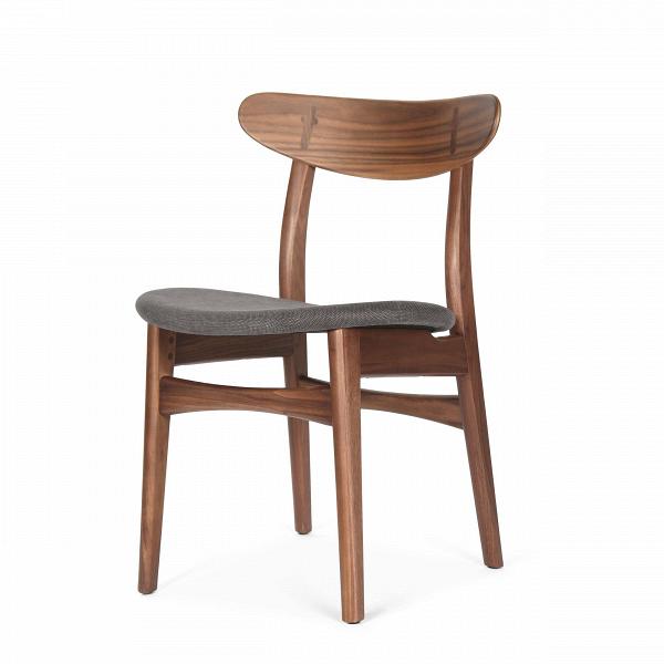 Стул Dutch 2Интерьерные<br>Дизайнерский деревянный стул Dutch 2 (Дуч 2) с мягким сиденьем от Cosmo (Космо).<br><br>     Порой некоторыеВпредметы интерьера так и претендуют стать главными героями вашего дома.ВИ вот уже некогда «гость» за обеденным столом становится полноценным членом семьи,ВвзаменВпредлагая комфорт и уют.<br><br><br> Стул Dutch 2 как раз из их числа. Благодаря стильному и лаконичному дизайну у него есть все шансы стать незаменимым помощником во время трапез за семейным обеденным столом.В<br>...<br><br>stock: 12<br>Высота: 78,5<br>Высота сиденья: 44,5<br>Ширина: 53<br>Глубина: 49<br>Материал каркаса: Массив ореха<br>Тип материала каркаса: Дерево<br>Материал сидения: Хлопок<br>Цвет сидения: Темно-серый<br>Тип материала сидения: Ткань<br>Коллекция ткани: Charles Fabric<br>Цвет каркаса: Орех