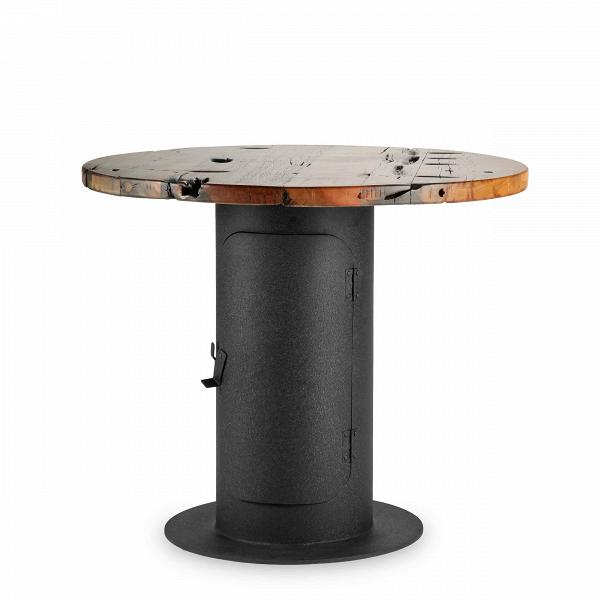 Обеденный стол StoveОбеденные<br>Дизайнерская круглый креативный обеденный стол Stove (Стов) со столешницей из состаренного дерева на толстой металлической ножке от Cosmo (Космо).Стол StoveВобладает дизайном, который невероятно органично смотрится в домашних интерьерах в стиле лофт, а также в кафе и барах. Необычная форма и стилизация изделия делают его по-настоящему запоминающимся элементом декора. Кажется, будто дизайнер, его создавший, придумал новое применение выведенным из эксплуатации фабричным механизмам. Ножка и...<br><br>stock: 2<br>Высота: 75<br>Диаметр: 90<br>Цвет ножек: Черный<br>Цвет столешницы: Коричневый<br>Материал столешницы: Массив состаренного дерева<br>Тип материала столешницы: Дерево<br>Тип материала ножек: Сталь