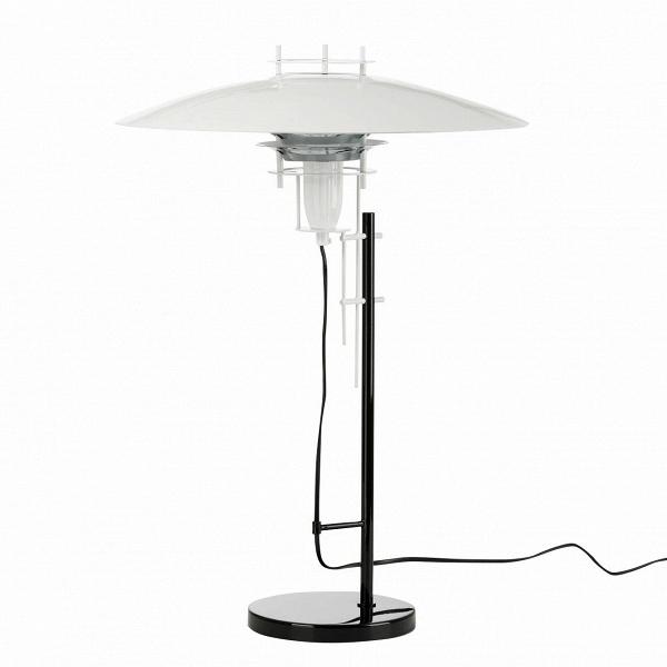 Настольный светильник JL2PНастольные<br>Дизайнерский настольный светильник JL2P (ЖЛ2П) в стиле хай-тек от Cosmo (Космо).<br><br><br> Наличие четких и ясных геометрических форм, минимализм и техногенность — эти черты присущи популярному сегодня стилю хай-тек. Металл и стекло, большей частью используемые в этом стиле, визуально увеличивают пространство, придают помещению больше легкости и света.<br><br><br> Настольный оригинальный светильник JL2P от финского дизайнера Юхи Ильмари Лейвиска ярко выражает суть интерьера в стиле хай-тек: ничего л...<br><br>stock: 6<br>Высота: 61<br>Диаметр: 43<br>Количество ламп: 1<br>Материал абажура: Алюминий<br>Материал арматуры: Металл<br>Ламп в комплекте: Нет<br>Напряжение: 220<br>Тип лампы/цоколь: E27<br>Цвет абажура: Белый<br>Цвет арматуры: Черный<br>Дизайнер: Juha Ilmari Leiviska