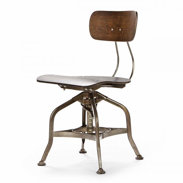Стул ToledoИнтерьерные<br>Дизайнерский деревянный стул Toledo (Толедо) с регулировкой высоты от Cosmo (Космо).<br><br> CтулВToledo 1920 года — прекрасный элемент интерьера в индустриальном стиле. Предмет функционален и лаконичен, при всей своей непритязательности он может стать выразительным акцентом, придав пространству особую атмосферу.<br><br><br> Сиденье и спинка изготовлены из натурального клена и имеют плавные эргономичные изгибы, специальный механизм позволяет менять высоту спинки. Хитрая система ножек из стали нап...<br><br>stock: 7<br>Высота: 80<br>Высота сиденья: 42-53<br>Ширина: 42<br>Глубина: 48<br>Тип материала каркаса: Сталь<br>Материал сидения: Фанера, шпон дуба<br>Цвет сидения: Темно-коричневый<br>Тип материала сидения: Дерево<br>Цвет каркаса: Бронза пушечная