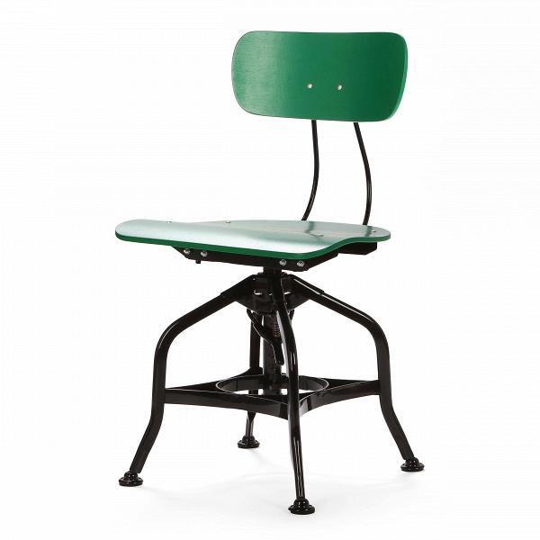 Стул ToledoИнтерьерные<br>Дизайнерский деревянный стул Toledo (Толедо) с регулировкой высоты от Cosmo (Космо).<br><br> CтулВToledo 1920 года — прекрасный элемент интерьера в индустриальном стиле. Предмет функционален и лаконичен, при всей своей непритязательности он может стать выразительным акцентом, придав пространству особую атмосферу.<br><br><br> Сиденье и спинка изготовлены из натурального клена и имеют плавные эргономичные изгибы, специальный механизм позволяет менять высоту спинки. Хитрая система ножек из стали нап...<br><br>stock: 16<br>Высота: 80<br>Высота сиденья: 42-53<br>Ширина: 42<br>Глубина: 48<br>Тип материала каркаса: Сталь<br>Материал сидения: Фанера, шпон дуба<br>Цвет сидения: Зеленый<br>Тип материала сидения: Дерево<br>Цвет каркаса: Черный