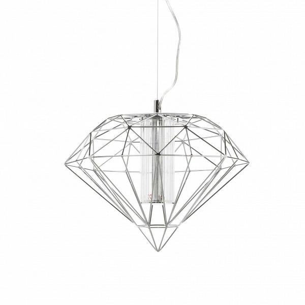 Подвесной светильник Polyhedra диаметр 60Подвесные<br>Как и некогда серебряная клетка с экзотической птицей, подвешенная под потолком, эта лампа сразу же превращает просто интерьер в артистический и освежает его. Здесь свет работает на контрасте с помещением, особенно если оно правильной формы и декорировано в классическом стиле. В таком случае этот лаконичный и в то же время экстравагантный светильник станет смысловым центром комнаты, при этом визуально не перегружая ее.<br><br><br> Вдохновение создатели подвесного светильника Polyhedra диаметр ...<br><br>stock: 0<br>Высота: 180<br>Диаметр: 60<br>Материал абажура: Металл<br>Ламп в комплекте: Нет<br>Напряжение: 220<br>Тип лампы/цоколь: LED<br>Цвет абажура: Хром