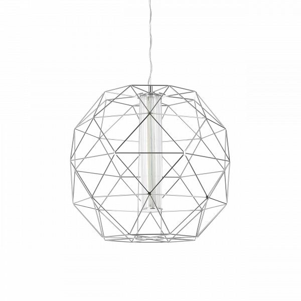 Подвесной светильник Diamond диаметр 60Подвесные<br>Если вам по душе традиционное центральное освещениеВс люстрой по центру потолка, но классика уже давноВприелась, то обратите внимание на подвесной светильник Diamond диаметр 60. Он может стать настоящим бриллиантом вашего дома, заняв почетное место в гостиной или столовой. <br><br><br> Дизайнеры соединили традиционную форму абажура с узнаваемыми очертаниями граненого алмаза. Актуальный оттенок хрома подчеркивает четкую геометрию каркаса. Сегодня металлические детали можно найти не то...<br><br>stock: 0<br>Высота: 180<br>Диаметр: 60<br>Материал абажура: Металл<br>Ламп в комплекте: Нет<br>Напряжение: 220<br>Тип лампы/цоколь: LED<br>Цвет абажура: Хром
