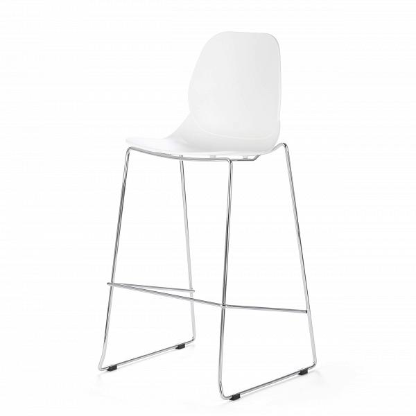 Барный стул LightweightБарные<br>Дизайнерский пластиковый барный стул Lightweight (Лайтвейт) на стальных ножках от Cosmo (Космо). <br>Придайте вашему домашнему интерьеру яркий акцент с помощью яркого барного стула Lightweight от компании Cosmo. Стильная и лаконичная мебель от Cosmo способна как нельзя лучше украсить любой современный интерьер. <br> <br> Более того, стул можно использовать и на открытом воздухе. Если вы будучи предпринимателем находитесь в поисках подходящей мебели для летней веранды вашего кафе, то оригинальный ба...<br><br>stock: 3<br>Высота: 112<br>Высота сиденья: 76<br>Ширина: 54<br>Глубина: 49,5<br>Цвет ножек: Хром<br>Цвет сидения: Белый<br>Тип материала сидения: Полипропилен<br>Тип материала ножек: Сталь нержавеющая
