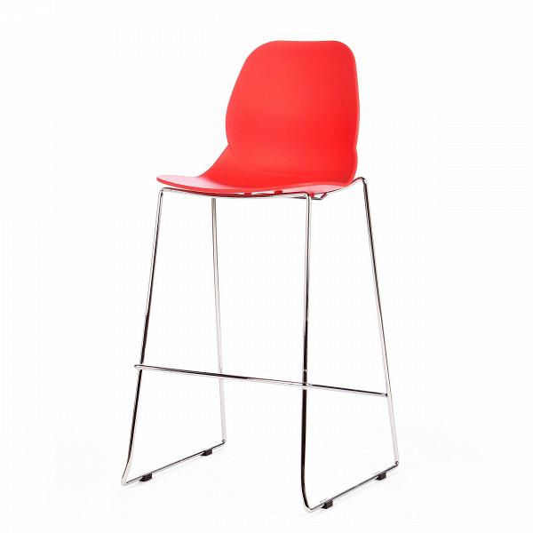 Барный стул LightweightБарные<br>Дизайнерский пластиковый барный стул Lightweight (Лайтвейт) на стальных ножках от Cosmo (Космо). <br>Придайте вашему домашнему интерьеру яркий акцент с помощью яркого барного стула Lightweight от компании Cosmo. СтильнаяВи лаконичная мебель от Cosmo способна как нельзя лучше украсить любой современный интерьер. <br> <br> Более того, стул можно использовать и на открытом воздухе. Если вы будучи предпринимателем находитесь в поисках подходящей мебели для летней веранды вашего кафе, то оригинальн...<br><br>stock: 5<br>Высота: 112<br>Высота сиденья: 76<br>Ширина: 54<br>Глубина: 49,5<br>Цвет ножек: Хром<br>Цвет сидения: Красный<br>Тип материала сидения: Полипропилен<br>Тип материала ножек: Сталь нержавеющая
