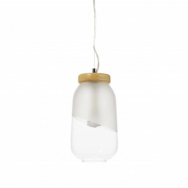 Подвесной светильник  FrascoПодвесные<br>Вероятно, авторы этого минималистичного подвесного светильника Frasco вдохновлялись изобретением Томаса Эдисона 1880 года. Присмотревшись к обычной лампе накаливания, они увидели в ней первозданную красоту без необходимости заключать ее в вычурный плафон. Поэтому их лампочка хранится в лаконичном, наполовину матовом плафоне-банке с деревянной «крышечкой».<br><br><br> Оживить интерьер поможет комбинация из нескольких подвесных светильников Frasco — просто и эффектно. Возьмите несколько ламп и п...<br><br>stock: 3<br>Высота: 150<br>Диаметр: 16<br>Количество ламп: 1<br>Материал абажура: Стекло матовое<br>Материал арматуры: Дерево<br>Мощность лампы: 40<br>Ламп в комплекте: Нет<br>Напряжение: 220<br>Тип лампы/цоколь: E27