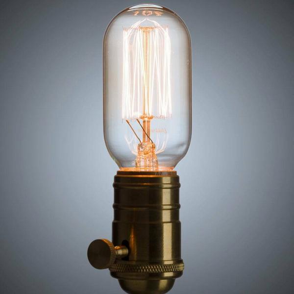 Винтажная лампа Эдисон Radios Squirrel Сage (Т45) 15 нитей от Cosmorelax
