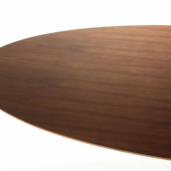 Обеденный стол Tulip овальный с деревянной столешницей от Cosmorelax