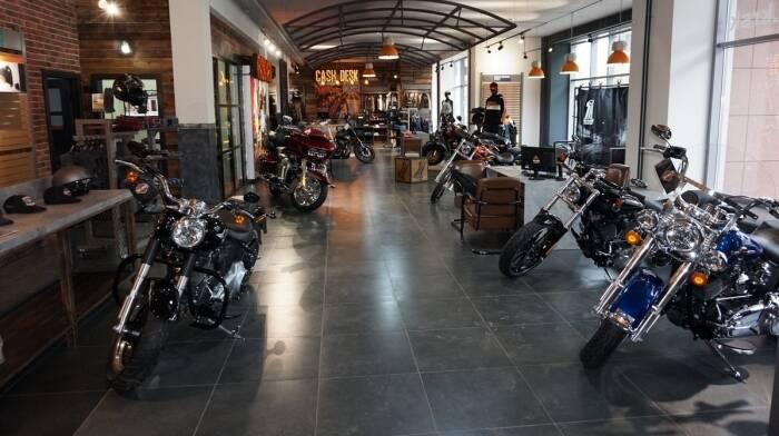 Проект салона Harley-Davidson при участии Cosmorelax