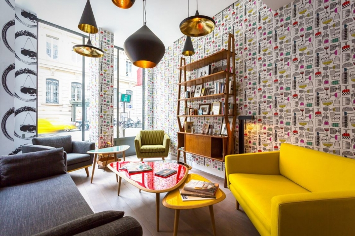 Во власти цвета: яркий отель в Париже