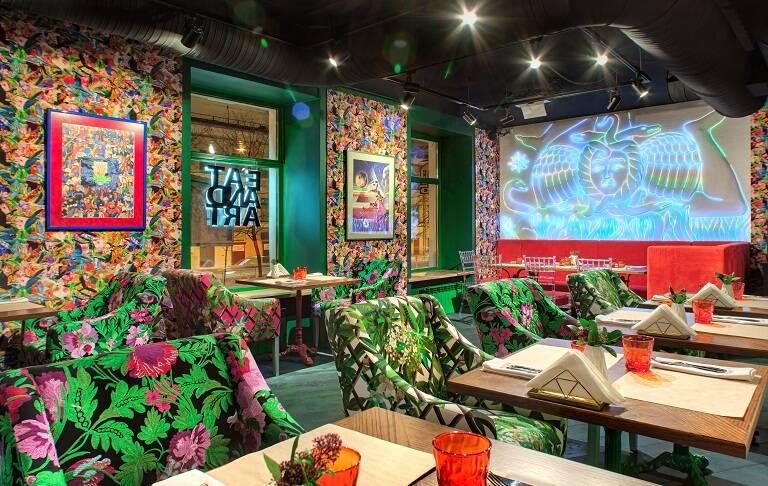 Проект ресторана «Eat and Art» при участии Cosmorelax