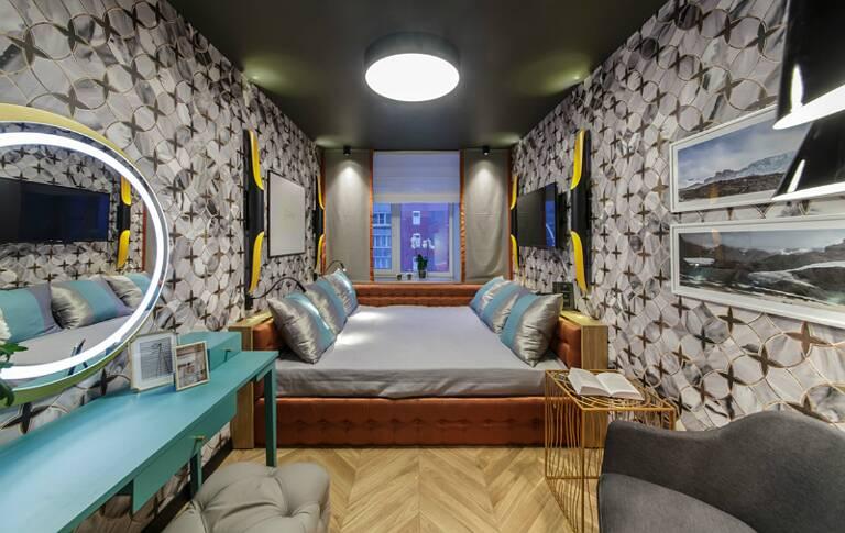 «Квартирный вопрос»: проект «Спальня в мраморных узорах» при участии Cosmorelax