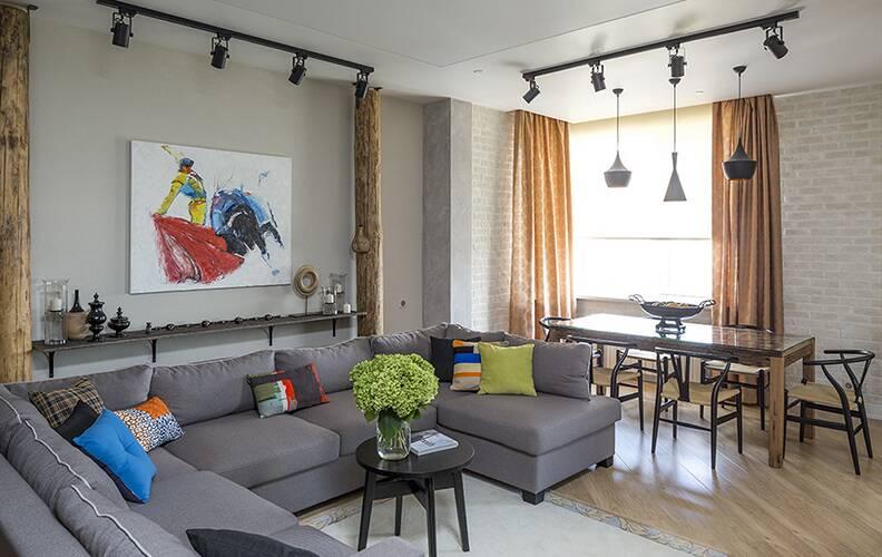 Эклектичная квартира в стиле лофт