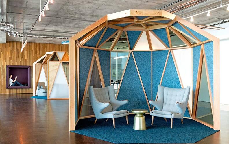 Интерьер офиса Cisco  в Сан-Франциско