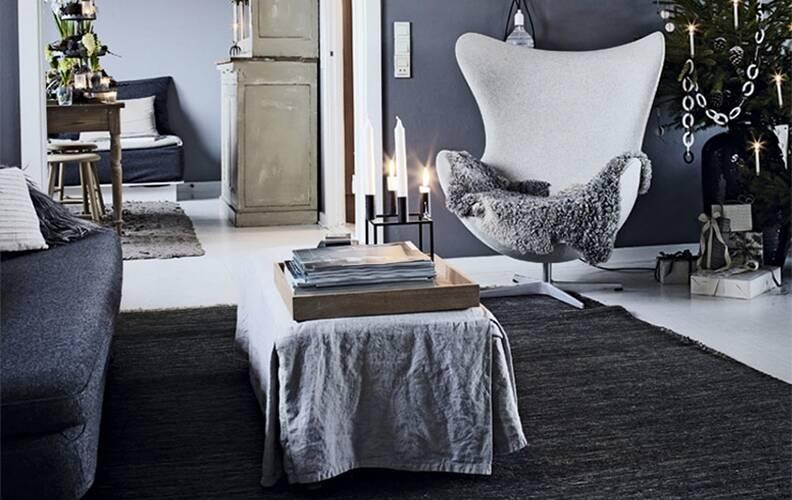 Новогодний интерьер в скандинавском стиле