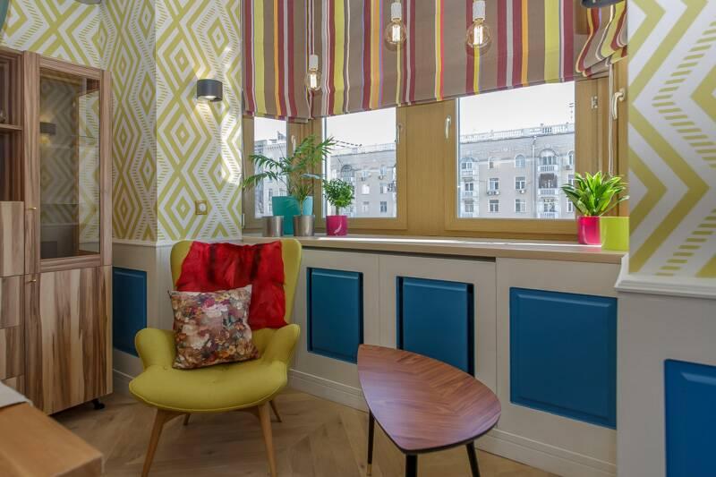 Интерьер квартиры в стиле ретро