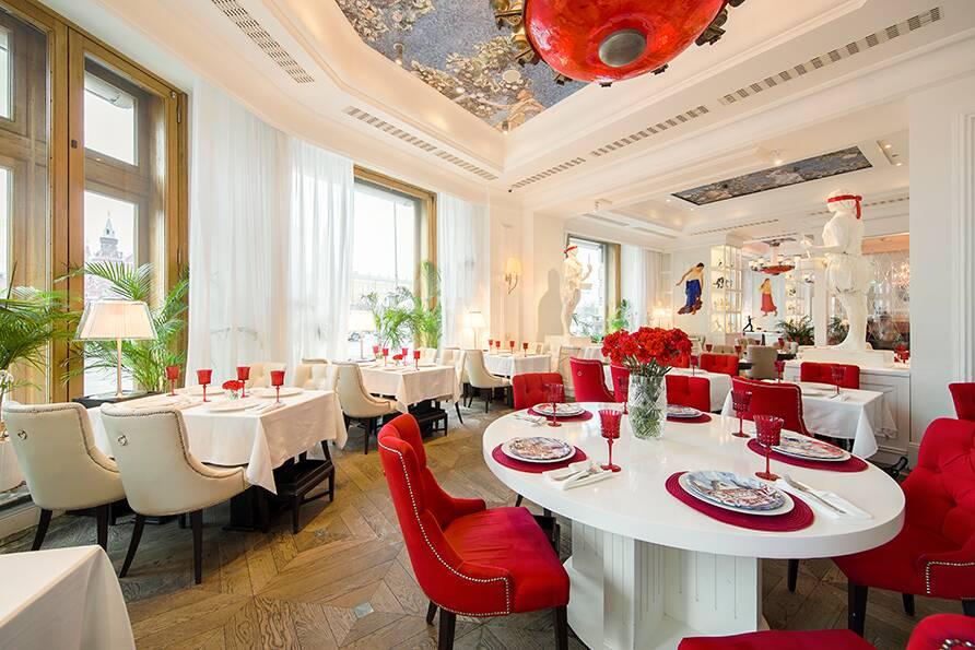 Интерьер ресторана «Dr. Живаго» при участии Cosmorelax