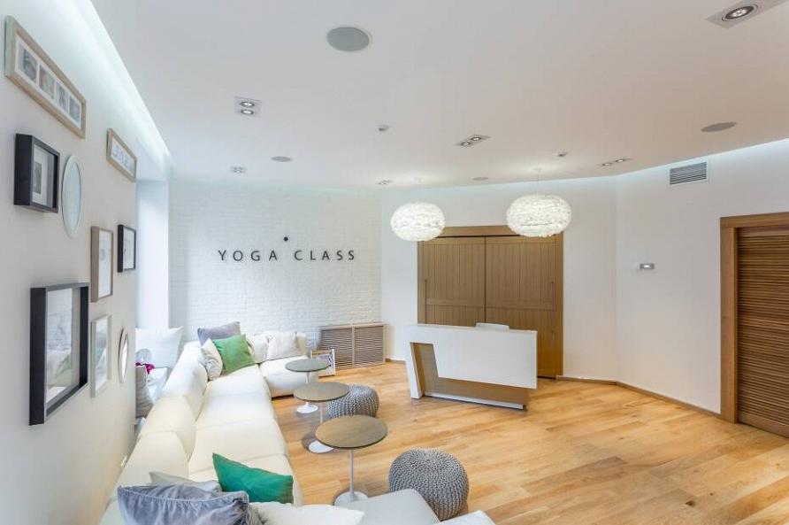 Дизайн-проект студии йоги при участии Cosmorelax